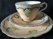 CAREWORN Aynsley Late Victorian tea trio - beautiful.